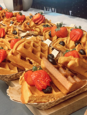 Waffles in Coworking Space