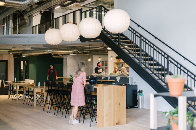 community space in coworking office in Salt Lake City