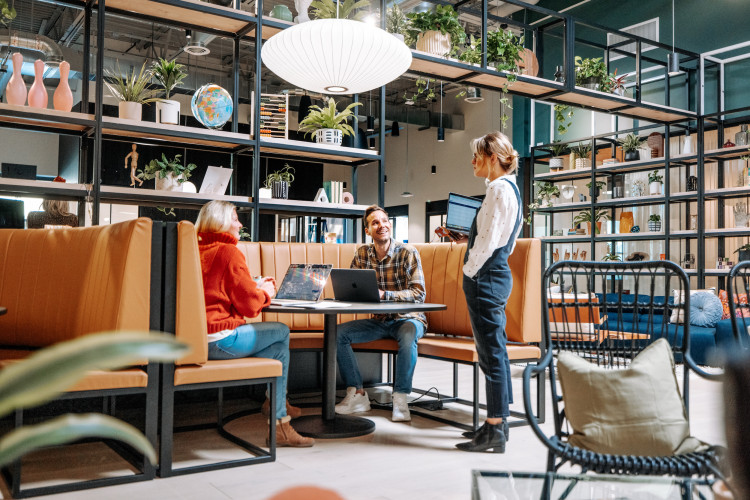 modern coworking office space in park city